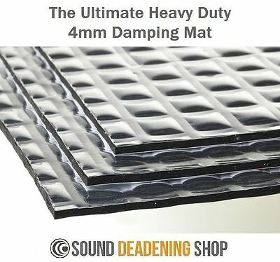 Silent Coat 4mm Extra Volume Pack 12 Sheets Sound Deadening Proofing Vibration