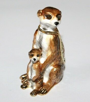 MEERKAT & Baby Trinket Box / Ornament Gift *NEW*
