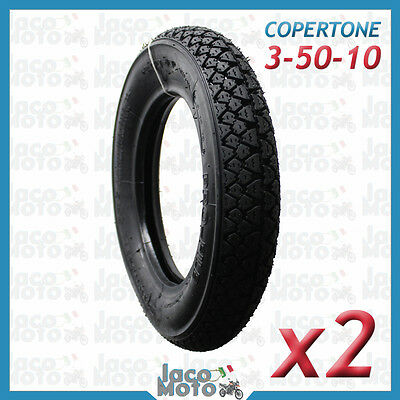 Coppia Pneumatici Gomme 3 50 10 Vespa PX 125 150 200 ET3 SPRINT GL TS GT RALLY