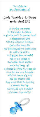 CHRISTENING NAMING DAY Thank You SCROLLS with ribbon on white paper - 25 scrolls