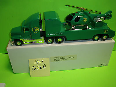 1999 Bp Oil Chopper Truck With Support Vehicle #9 Mib 1:34 New & Very Rare!