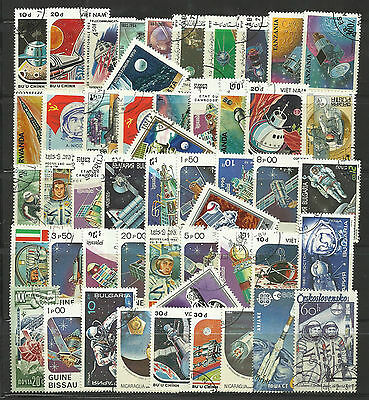 SPACE EXPLORATION Collection Packet 50 Different WORLD Stamps