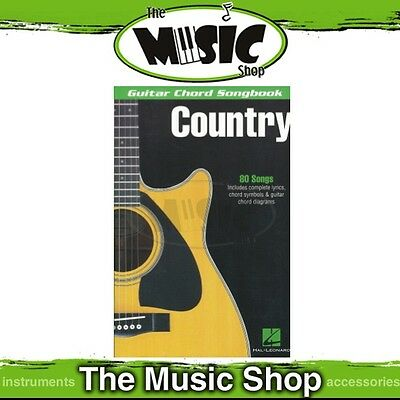 New Guitar Chord Songbook Country - Chords & Lyrics Music Book