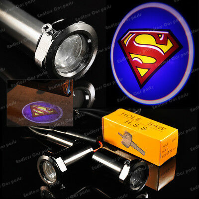 New Ghost Shadow Laser Projector Logo Cree LED Light Courtesy Door Step Superman