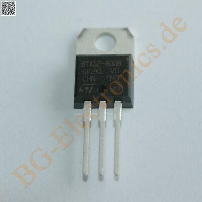 2 x BTA12-800B Triac 12A 800V  STM TO-220 2pcs