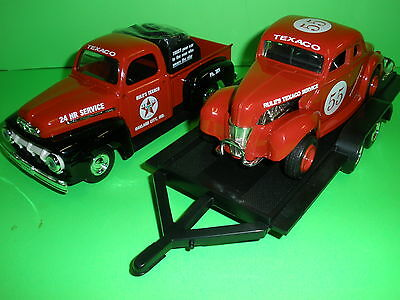 1951 Ford Pickup w/trailer & 1940 Ford Coupe Race Car Rules Texaco ERTL 1:25