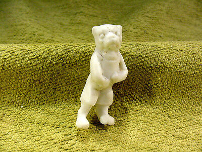 Dog Animal Figurine Length 0.9 Inch Age 1890 Feve Excavated Limbach Art Dollhouse Miniatures Collage Supplies 8475 For Sale
