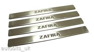 VAUXHALL OPEL ZAFIRA mk2 B 2005-2011 CHROME 4 DOOR SILL COVERS STAINLESS STEEL