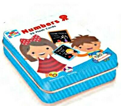 26 Numbers Cards in tin game LEARN with FUN Educational Toy AGE 3+ nursery kids