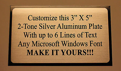 "3""x5"" TWO TONE ALUMINUM ENGRAVED SUBLIMATION PLATE TAG PLAQUE  See Description!!"