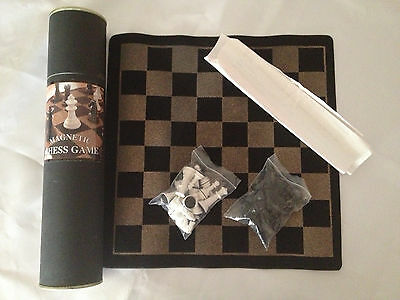Magnetic Chess Set In A Tube ~ Great For Travelling  ~ As New