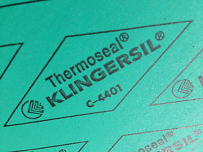 """New Thermoseal Klingersil C-4401 Synthetic Sheet Gasket 1/16"""" x 6"""" x 6"""""""