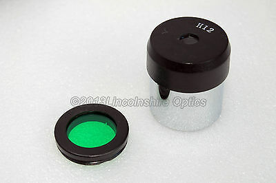 "Budget 1.25"" 12mm eyepiece and green moon filter for astronomy telescope"