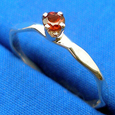 Garnet Ring, Hand Crafted Hammered Stackable Silver Band, January Birthstone