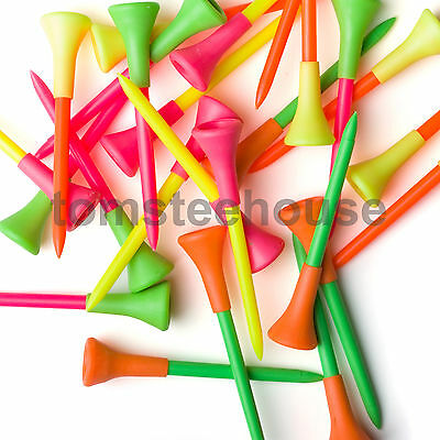 50 PLASTIC & RUBBER CUSHION TOP GOLF TEES (83mm Large)