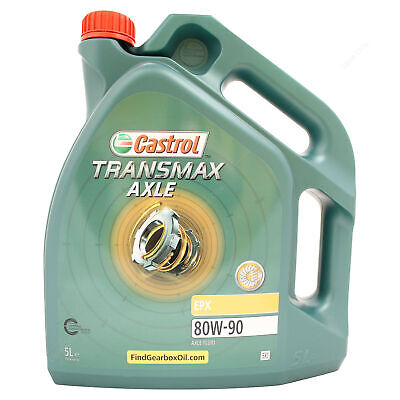 Castrol Axle EPX 80W-90 Gear Oil 80W90 Axle Fluid - 5 Litres 5L