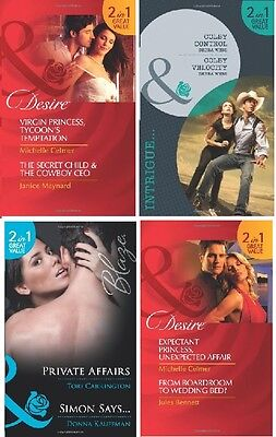 Mills & Boon Selection __ Eight Stories In Four Books _ Brand New __ Freepost Uk