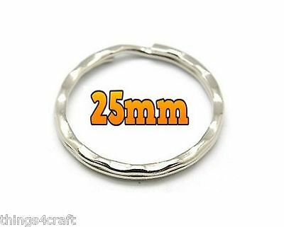 25Mm Split Rings Key Keyrings  Round Ring Keyring Keys Clasp
