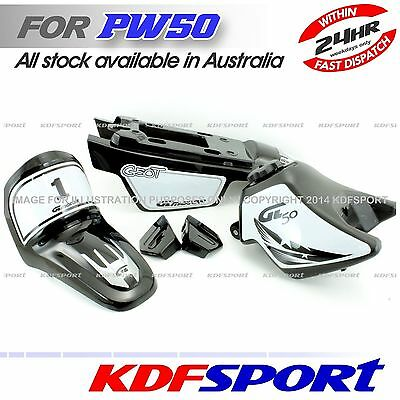 Kdf Plastic Cover Tank Fender Black 50 Peewee Pw Py No Seat For Yamaha Pw50 Py50