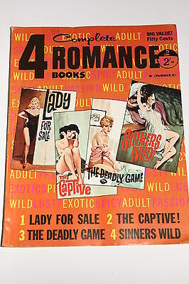 Vintage Mag, 4 Romance Books for Adults, 1962, Pulp/Trash/Rockabilly/Adults