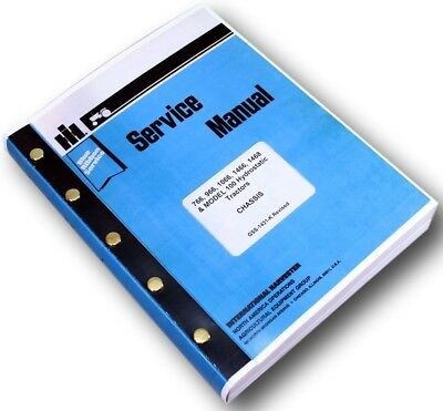International 766 966 1066 1466 Tractor Service Repair Shop Manual Ih Technical