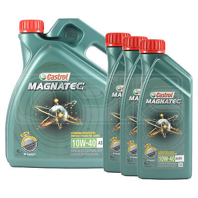 Castrol Magnatec 10W-40 Part-Synthetic Engine Oil ACEA A3/B4 7 LITRES (4L+ 3x1L)