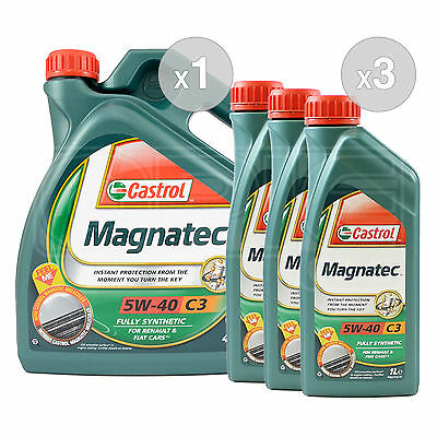 Castrol Magnatec 5W-40 C3 Fully Synthetic Engine Oil 5W40 - 7 LITRES (4L + 3x1L)