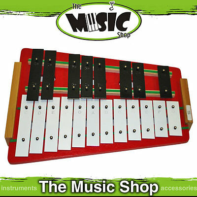 Angel AX525C 25 Note Chromatic Glockenspiel with Beaters - Tempered Steel Bars
