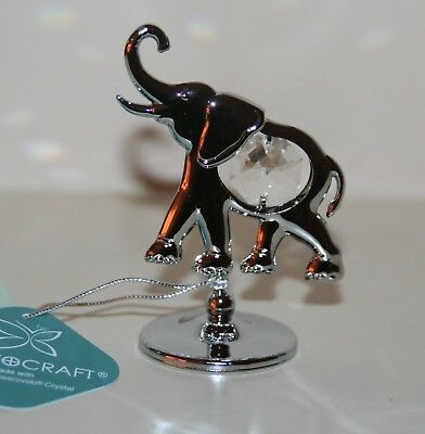 Crystocraft - ELEPHANT Ornament with Strass Swarovski Crystal Elements NEW