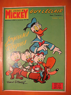 Le journal de Mickey N° 724 du 03/1966 -Walt Disney Edi-Monde