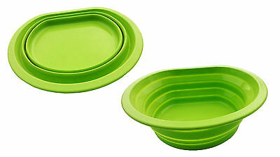 SILICONE COLLAPSIBLE WASHING UP BOWL Wash Basin Clothes CAMPING kitchen HIKING