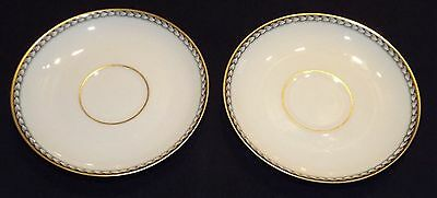H & Co.  Heinrich Bavaria 2  Demitasse Saucers - Ivory Body Supreme