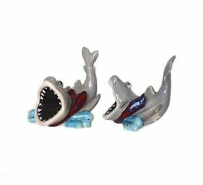 French Country Chic Collectable Novelty Salt and Pepper Set SHARKS FREEPOST New