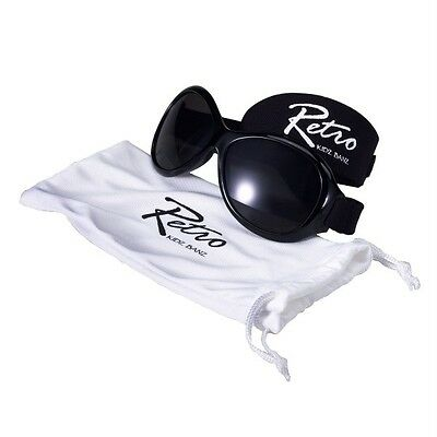 Baby Banz Retro Sunglasses 0-2 Years Black 100% UV Protection Brand New