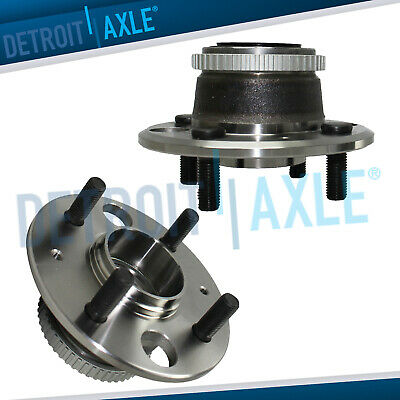 Pair of 2 - Rear Driver and Passenger Wheel Hub and Bearing - Disc Brake w/ ABS