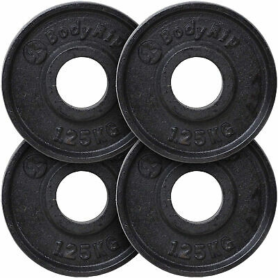 "BodyRip CAST IRON 1"" HOLE WEIGHT PLATES DISCS WEIGHTS TRAIN EXERCISE GYM MUSCLE"