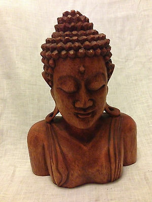 Large Hand Carved Buddha Bust (Balinese)