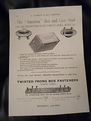 """""""AMERTON"""" BOX AND CASE STUD Images Copy Print Lumley+Co Minories London #294"""