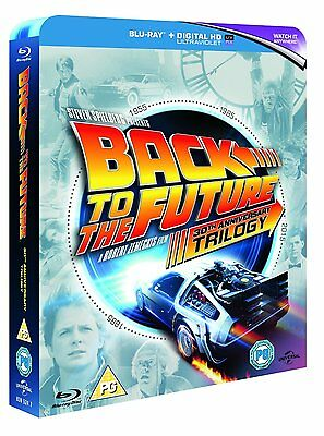 """Back To The Future Trilogy 4 Disc Box Set 30Th Anniversary Blu-Ray Rb """"new"""""""