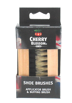Cherry Blossom Wooden Shoe Boot Polish Brush Appilcater And Buffing Brushes