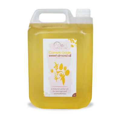 5 Litres 100% PURE, COSMETIC GRADE, COLD PRESSED SWEET ALMOND OIL