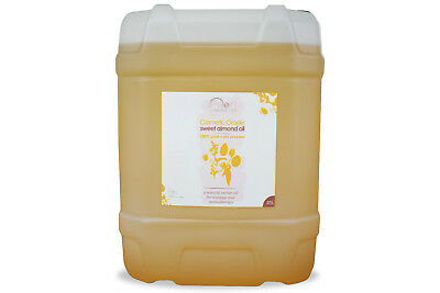 20 Litres 100% PURE, COSMETIC  GRADE, COLD PRESSED SWEET ALMOND OIL