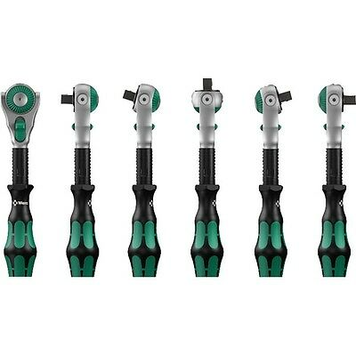 Wera Tools 1/4 Drive Zyklop Ratchet Tilting Head Fine Teeth Push Button Release