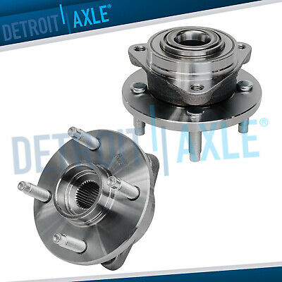 (2) Front Wheel Bearing & Hub 2003-2010 Chevy Cobalt Saturn Ion G5 4-Lug NO ABS