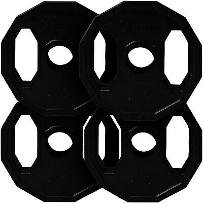 BodyRip Olympic Rubber Coated Polygonal Hex Weight Disc Plates Gym Fitness Train