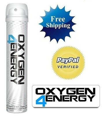 (2) Two Portable Oxygen Cans Oxygen4Energy TruO2 100% Natural Energy Boost TruO2