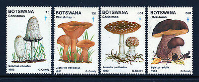 Botswana. SC# 321-24 MNH, (4) stamp Mushroom Set issued in 1982/