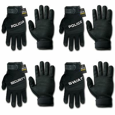 RapDom Digital Leather Police Policia Security SWAT Tactical Hatch Gloves