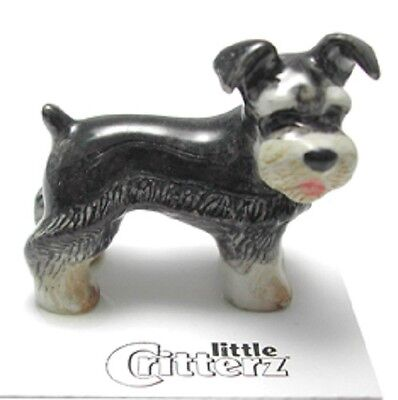 "Little Critterz - LC956 -  Miniature Schnauzer ""Pepper"" (Buy 5 get 6th free!)"