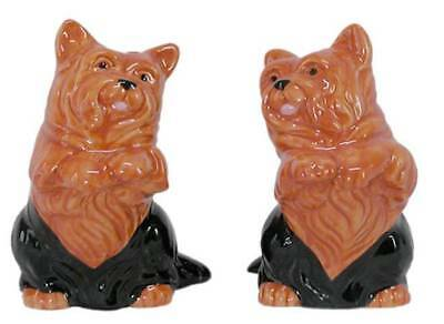French Country chic Collectable Novelty Salt and Pepper Set CORGY DOGS  New